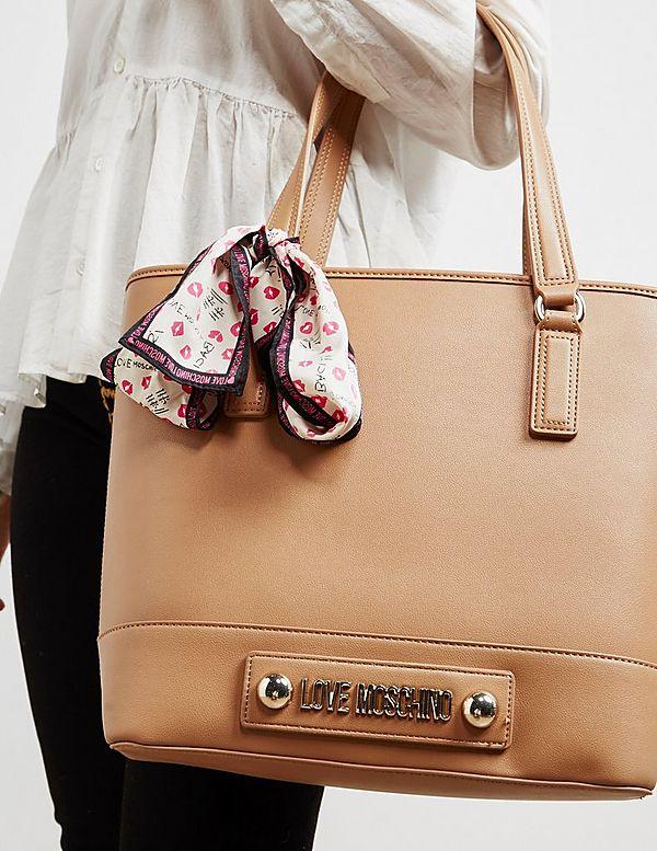 Love Moschino Stud Zip Tote Bag