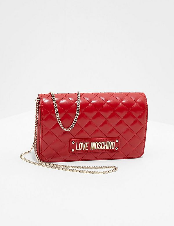 Love Moschino Quilted Plaque Shoulder Bag