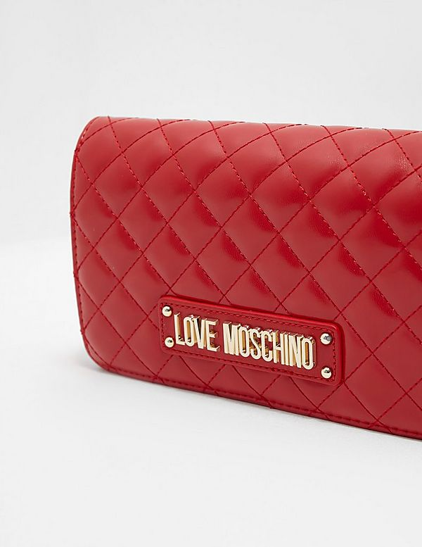 5d740a52465 Love Moschino Quilted Plaque Shoulder Bag | Tessuti