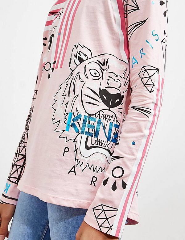 KENZO All Over Print Long Sleeve T-Shirt