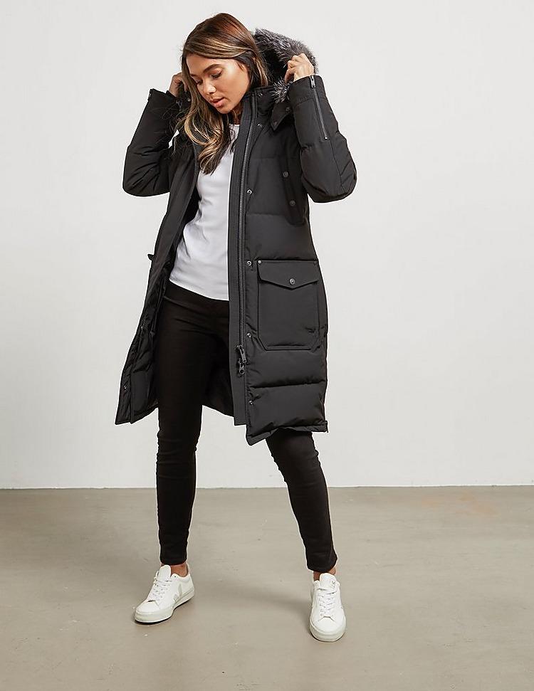 Moose Knuckles Zip Up Fur Parka Jacket