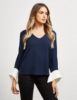 Armani Exchange V Neck Blouse