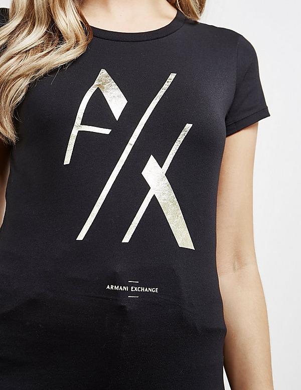 Armani Exchange Split Logo Short Sleeve T-Shirt