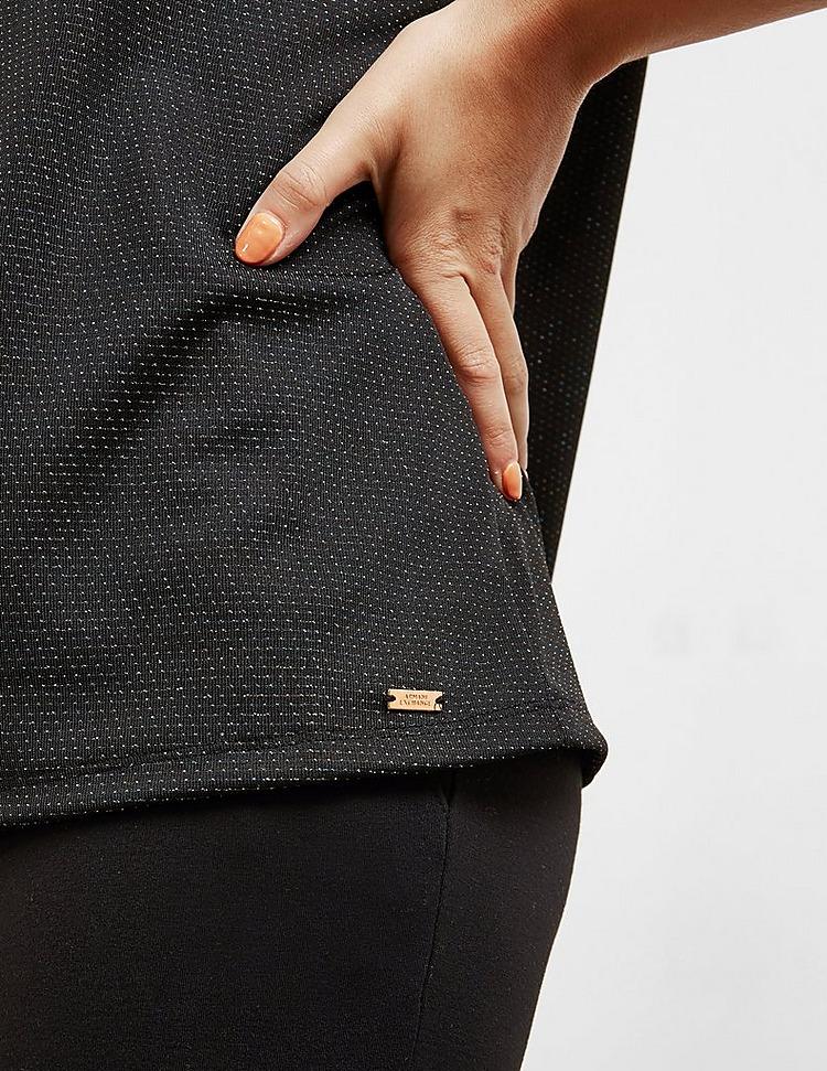 Armani Exchange Glitter Short Sleeve Top