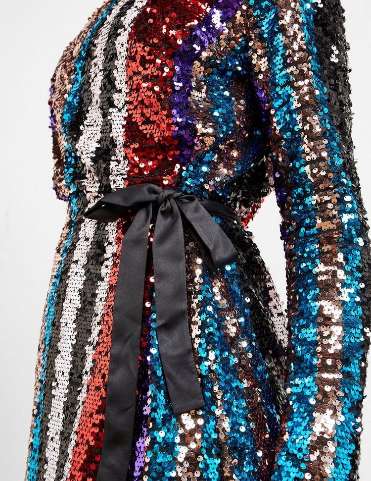 Armani Exchange One Shoulder Sequin Dress