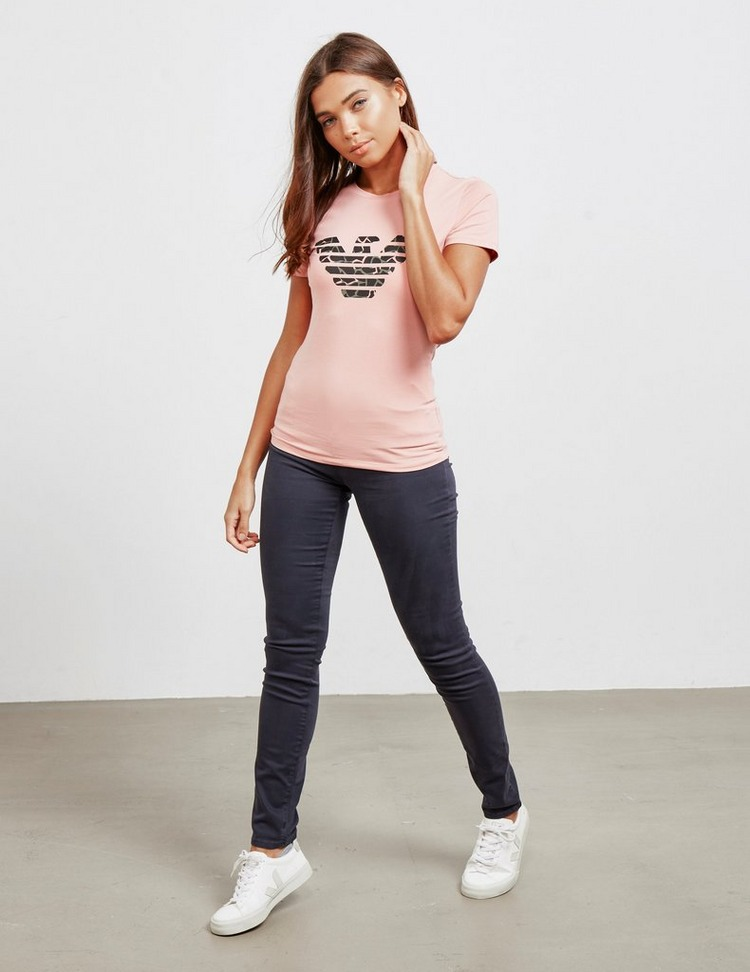 Emporio Armani Camouflage Logo Short Sleeve T-Shirt