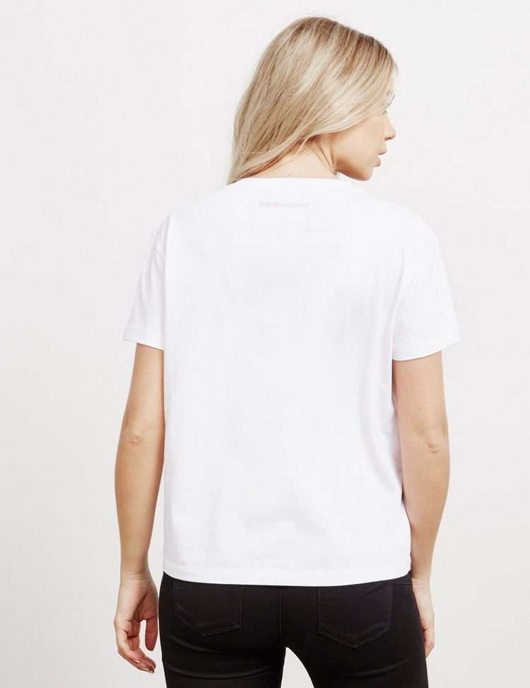 Emporio Armani Sequin Logo Short Sleeve T-Shirt