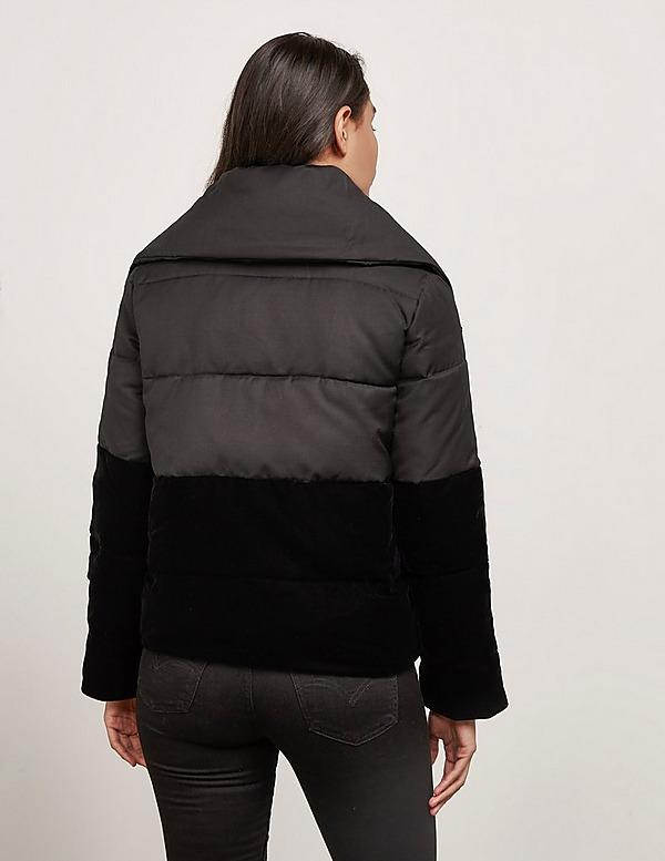 Emporio Armani Contrast Crop Puffer Jacket