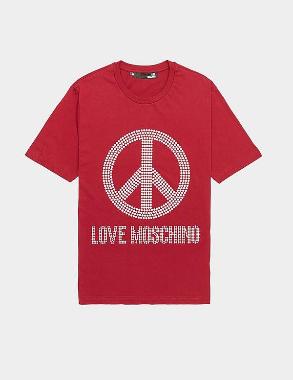 Love Moschino Stud Peace Short Sleeve T-Shirt