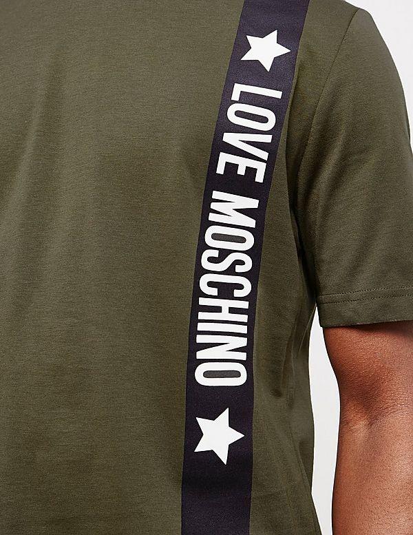 Love Moschino Military Stripe Short Sleeve T-Shirt