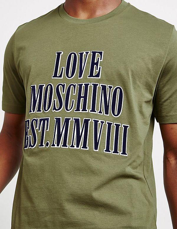 Love Moschino Raise Flock Short Sleeve T-Shirt