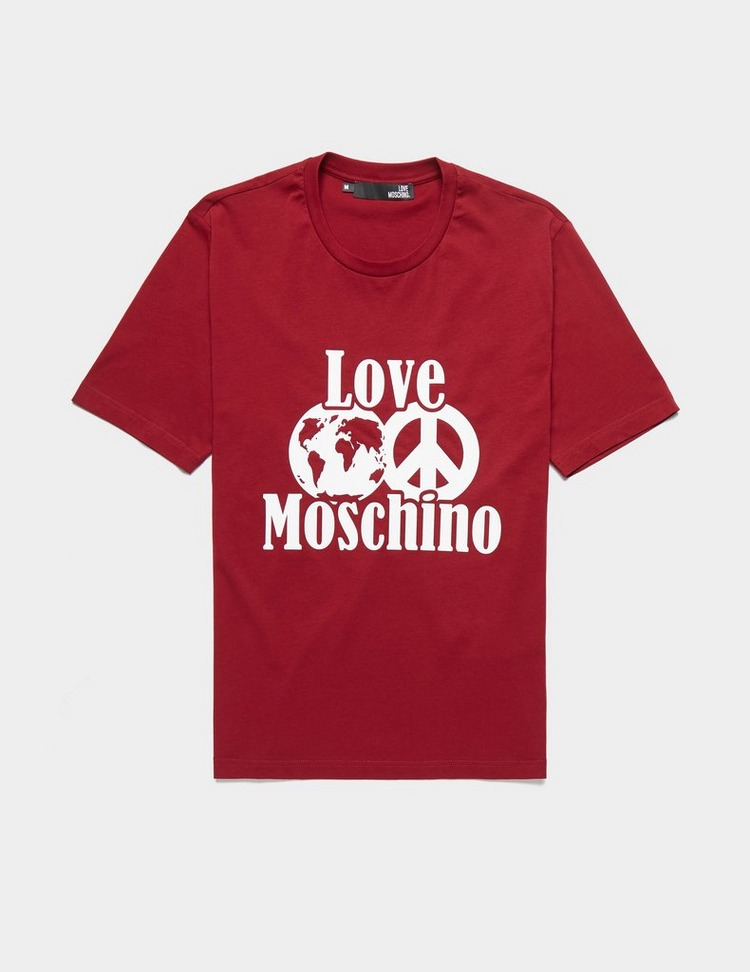 Love Moschino Peace World Short Sleeve T-Shirt