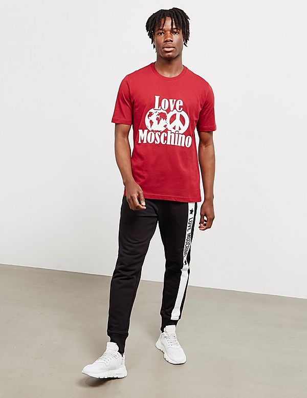 Love Moschino Peace World Short Sleeve T-Shirt
