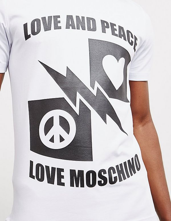 Love Moschino Love And Peace Short Sleeve T-Shirt