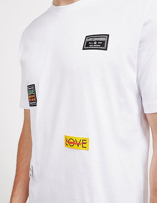 Love Moschino Multi Patch Short Sleeve T-Shirt