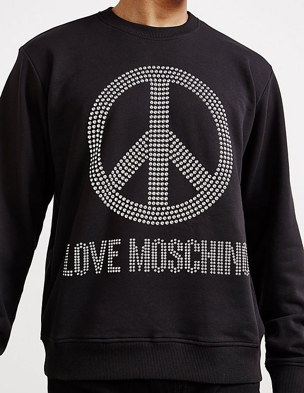 Love Moschino Stud Peace Sweatshirt