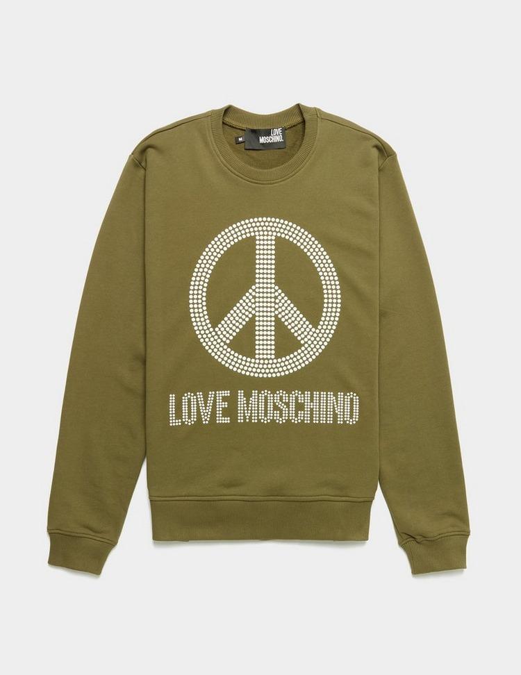 Love Moschino Stud Peace Sweatshirt