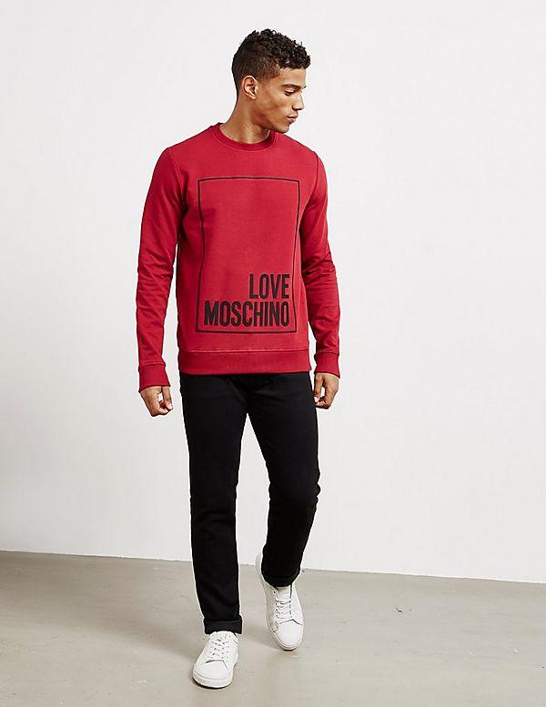 Love Moschino Stripe Box Sweatshirt