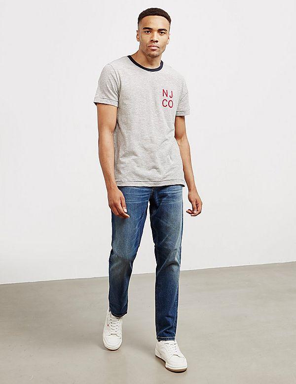 Nudie Jeans Fine Stripe Short Sleeve T-Shirt