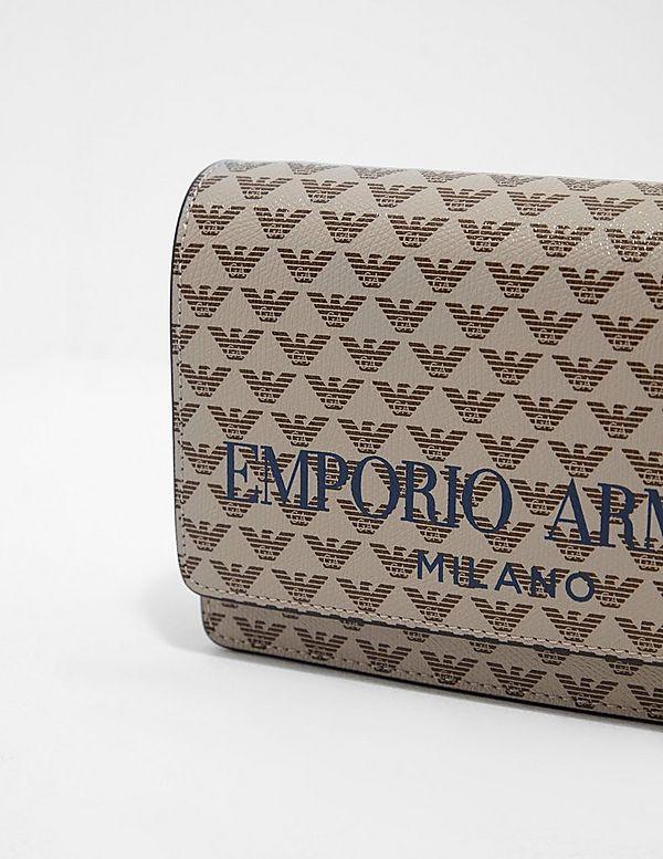 Emporio Armani Print Logo Cross Body Bag