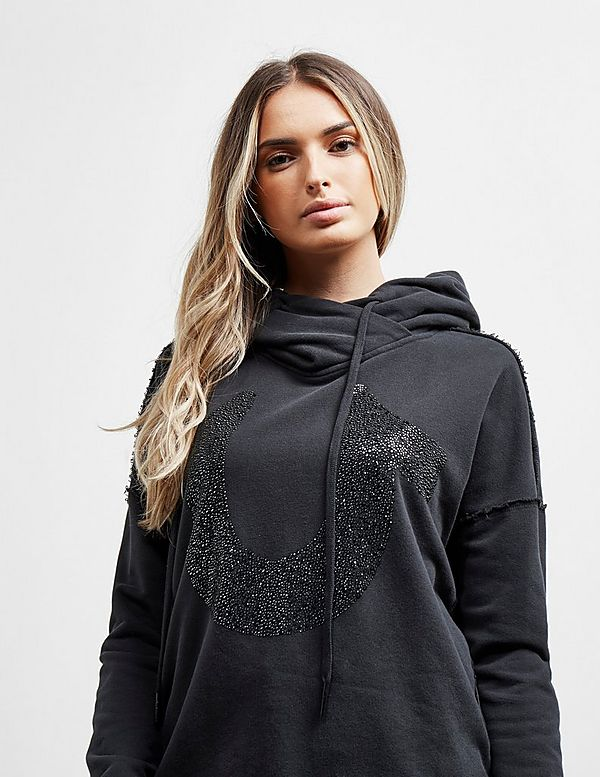 True Religion Crystal Cropped Hoodie