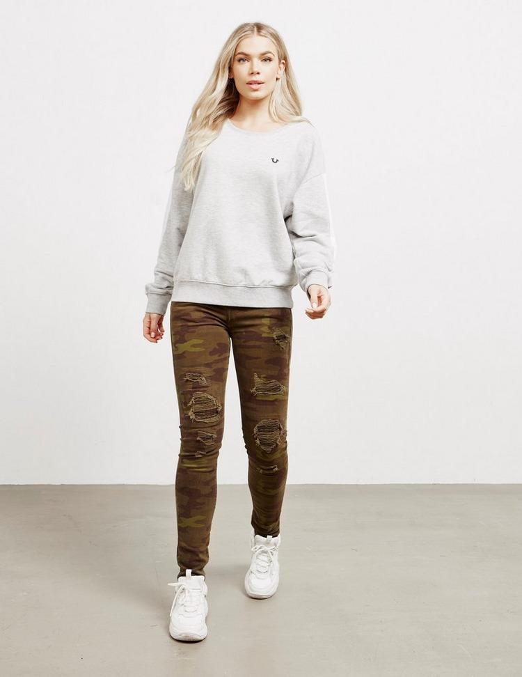 True Religion Contrast Panel Sweatshirt