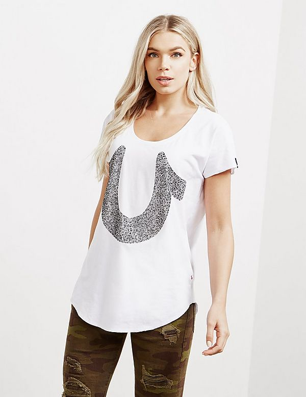 True Religion Crystal Short Sleeve T-Shirt