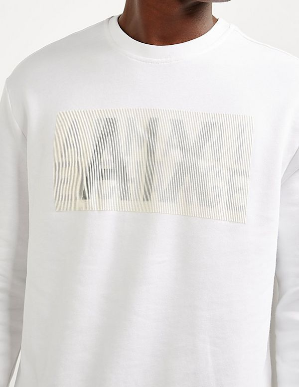 Armani Exchange Rubber Logo Sweatshirt