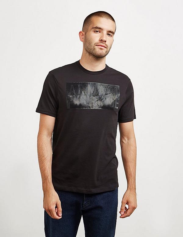 Armani Exchange Rubber Logo Short Sleeve T-Shirt
