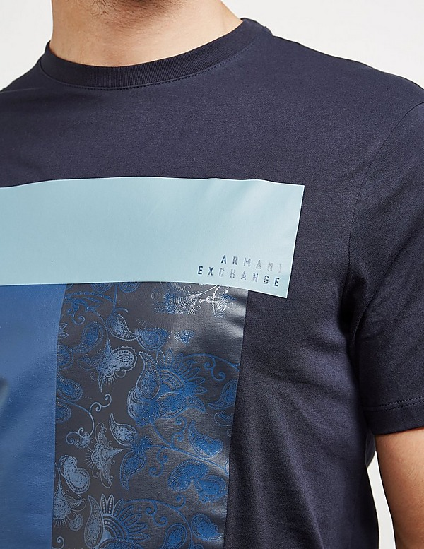 Armani Exchange Paisley Block Short Sleeve T-Shirt