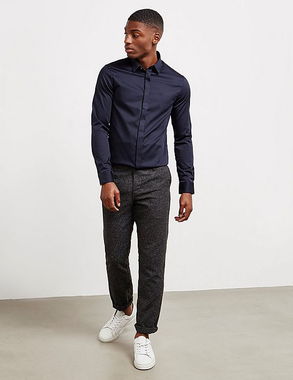 Armani Exchange Long Sleeve Button Up Shirt