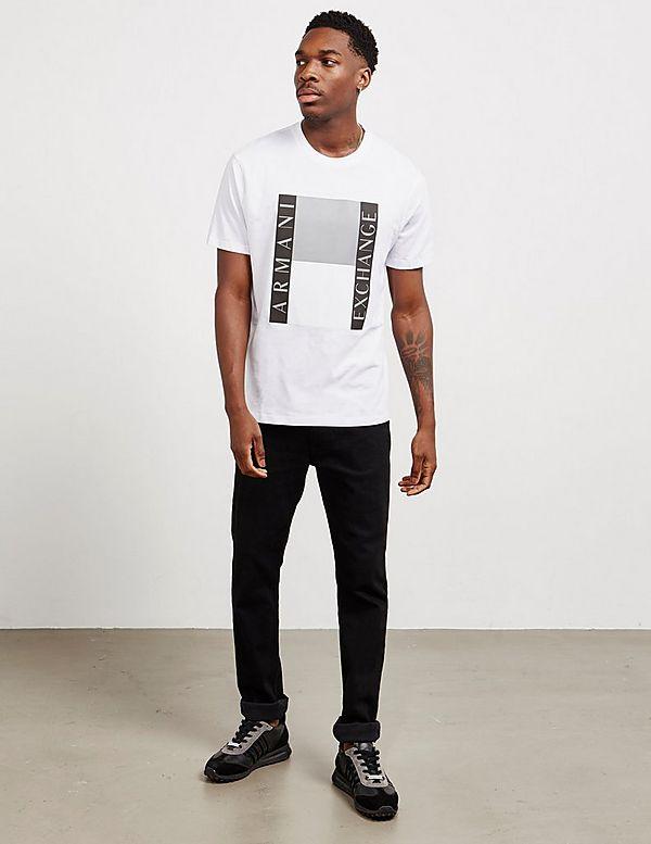 Armani Exchange Square Logo Short Sleeve T-Shirt