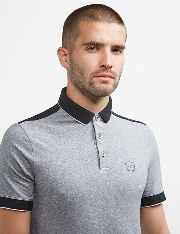 Armani Exchange Tipped Short Sleeve Ocford Polo Shirt