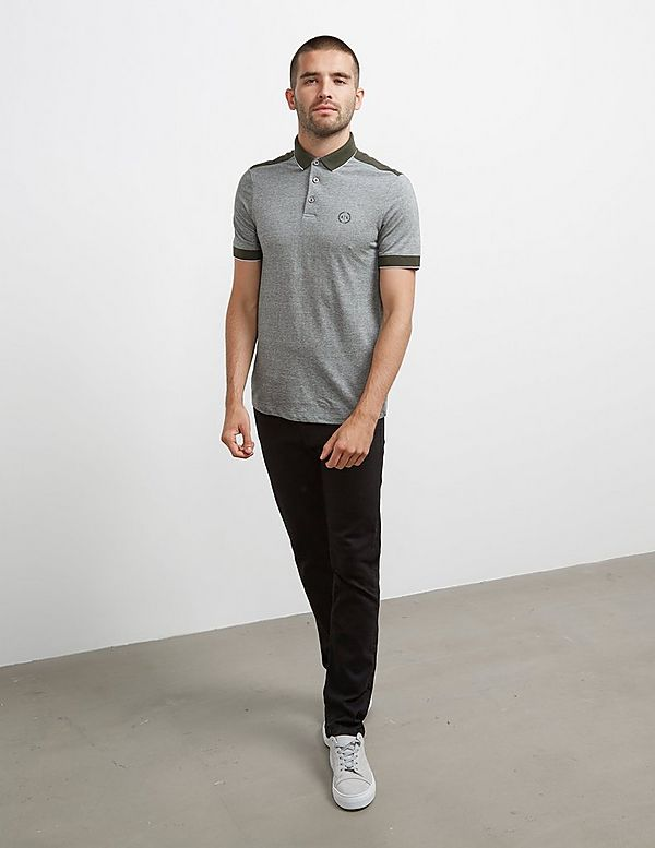 Armani Exchange Tipped Short Sleeve Ocford Polo Shirt