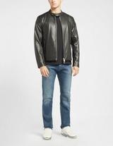 Armani Exchange Leather Blouson Jacket