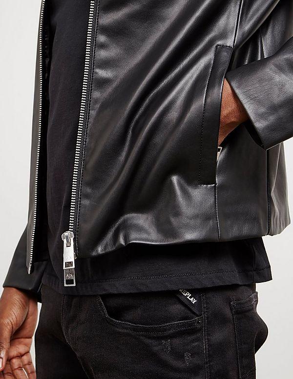 34acd38303724 Armani Exchange Leather Jacket | Tessuti
