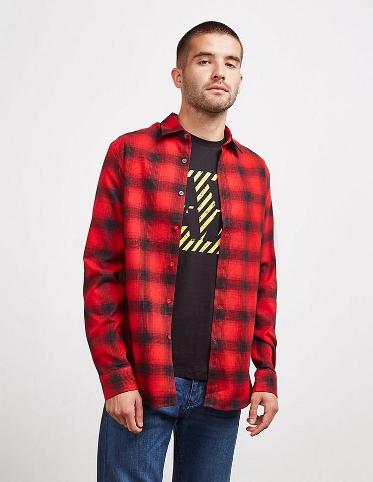 Armani Exchange Big Plaid Long Sleeve Shirt