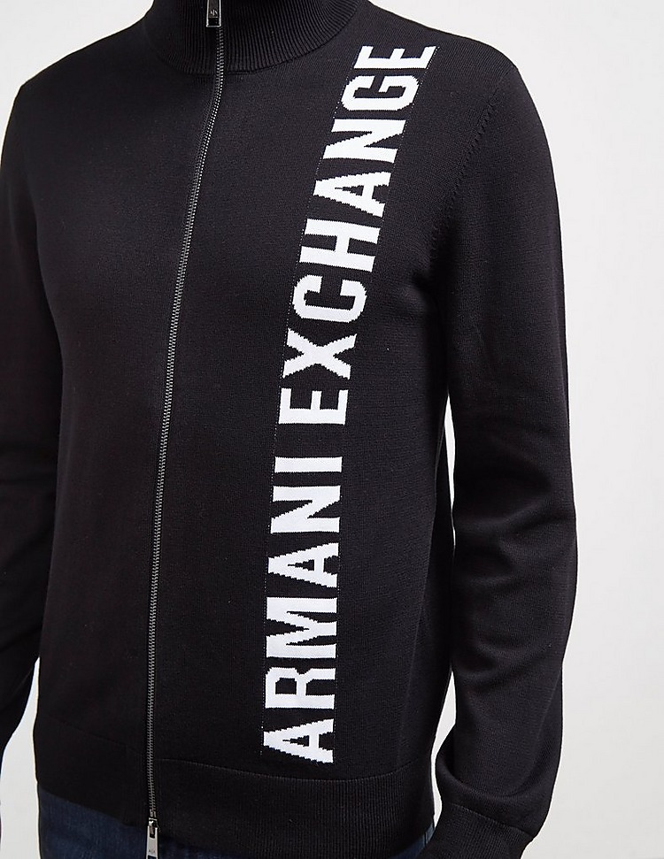 Armani Exchange Side Logo Zip Through Jumper