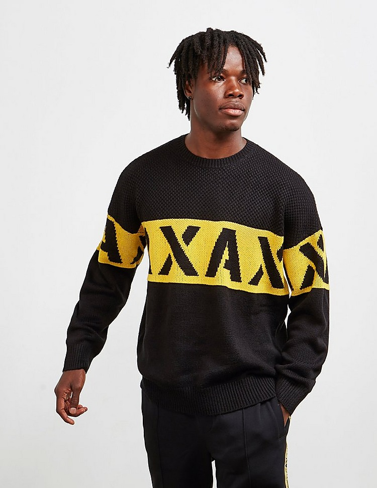 Armani Exchange Band Logo Knit Jumper