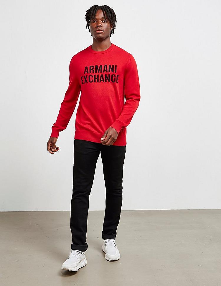 Armani Exchange Large Logo Knit Jumper