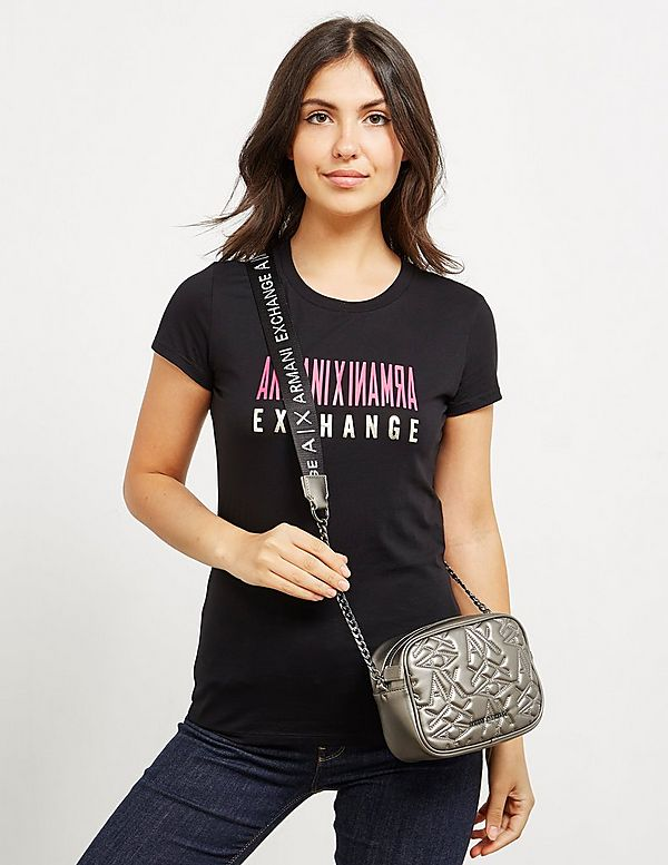 Armani Exchange Quilted Shoulder Bag