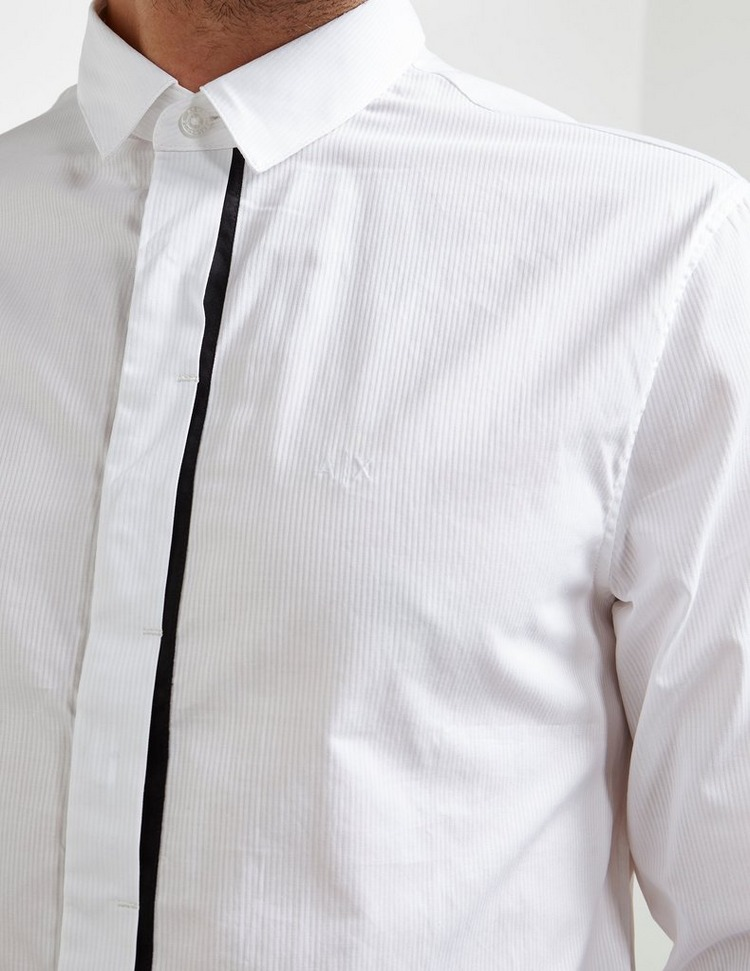 Armani Exchange Tipped Placket Long Sleeve Shirt