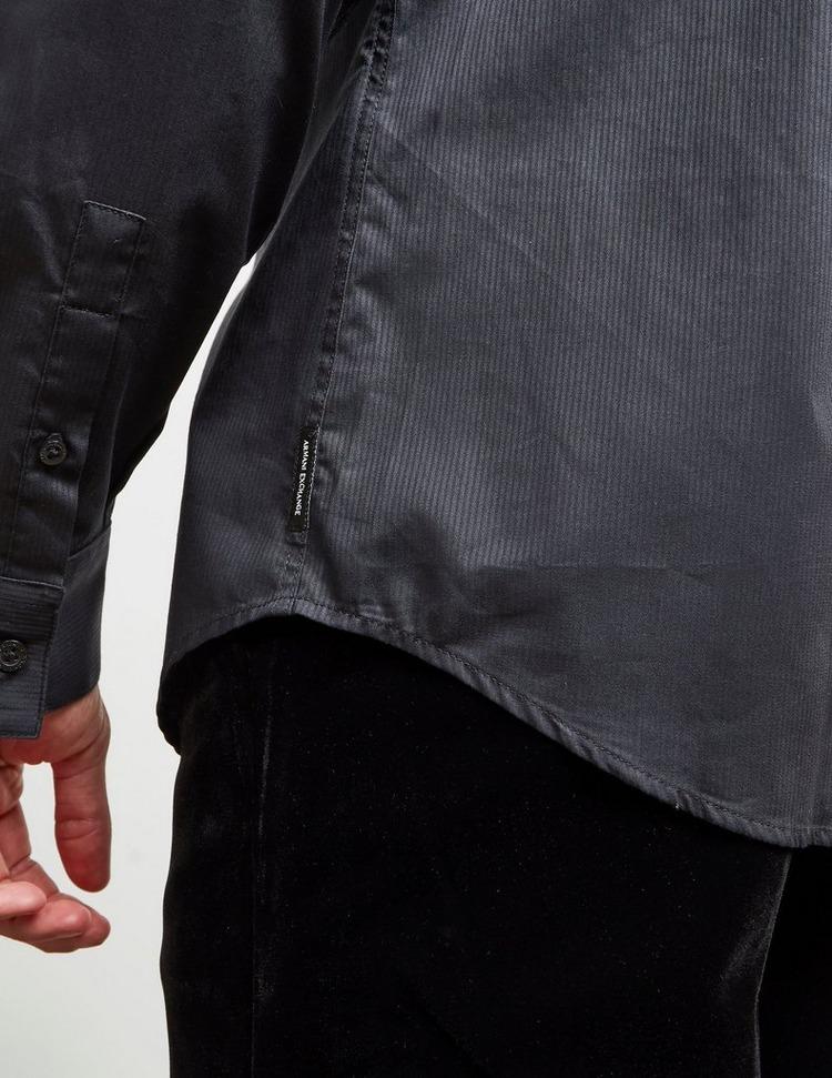 Armani Exchange Tipped Placket Long Sleeve Shirt