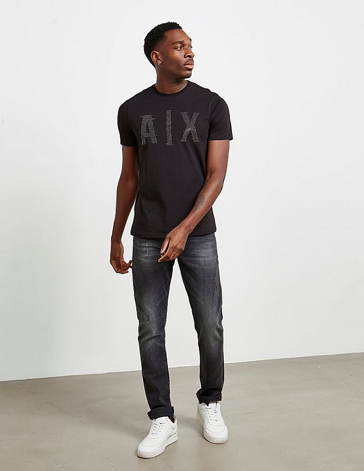 Armani Exchange Diamante Logo Short Sleeve T-Shirt