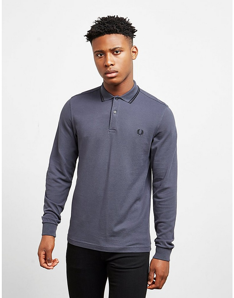 Fred Perry Long Sleeve Twin Tip Polo Shirt