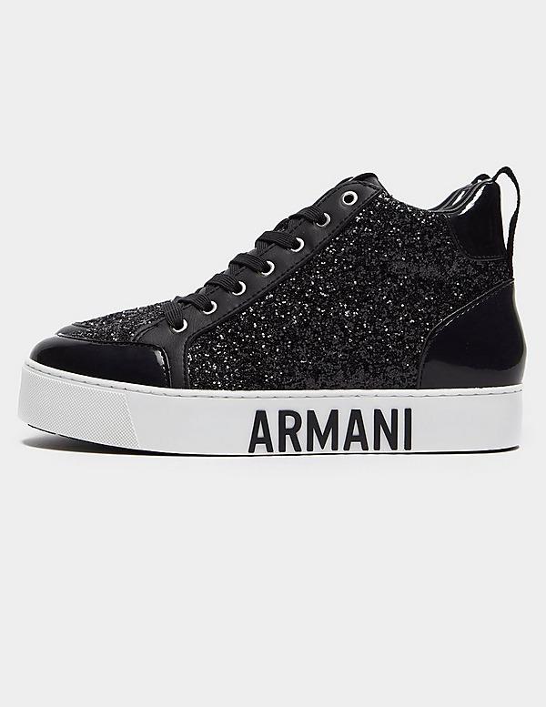 Armani Exchange Glitter High Top Trainers