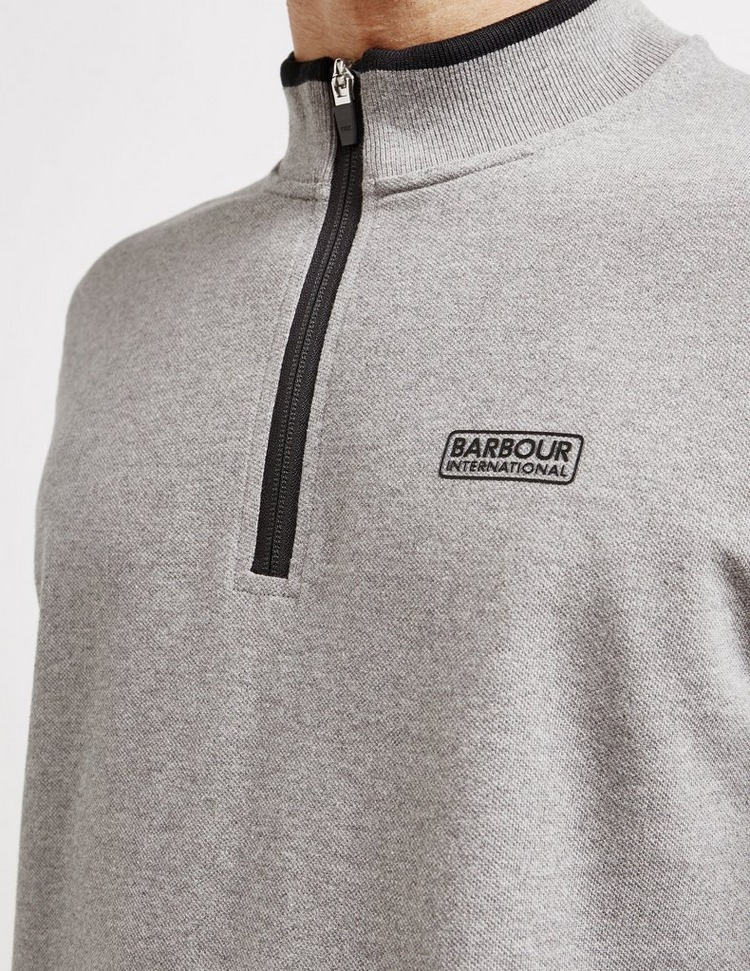 Barbour International Half Zip Pique Sweatshirt