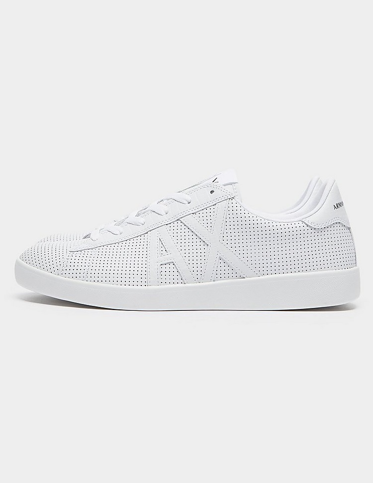 Armani Exchange Perforated Leather Trainers