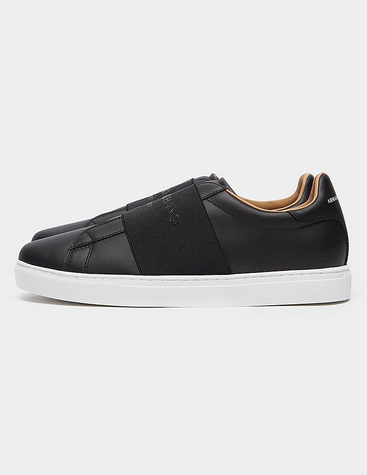 Armani Exchange Strap Leather Trainers