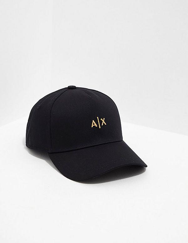 Armani Exchange Gold Logo Cap